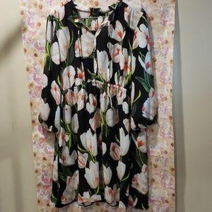 NWT Sheer Floral Dress